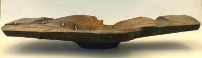 Renewed Orbit Bowl/ Spalted Maple and forged steel